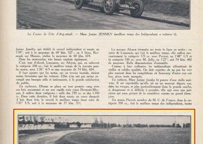 1927 20 03 Côte d'Argenteuil. 1,800 km, Amilcar 1100 MCO GH, n°115, Martin 1er des 1100, 1'16''45 à 84,375, R.B., Grande médaille d'Or. 2