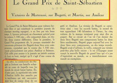 1927 24 07 GP Saint Sébastien. Monsieur Sée présente à l'Infant Don Jaime d'Espagne, Charles Martin, 1er des 1100cc et admire le moteur du MCO 1100. Photo du MCO Géo Ham de Martin 0