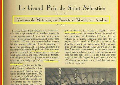 1927 25 07 GP Saint Sébastien 1er des 1100 Martin Amilcar MCO G.H. Record 1100 battu et à 4' de la 5ème Bugatti 2000cc (ab. Morel, roulement de roue et Leblanc en panne d'essence !). 0