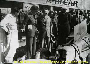 1927 25 07 GP Saint Sébastien 1er des 1100 Martin Amilcar MCO G.H. Record 1100 battu et à 4' de la 5ème Bugatti 2000cc (ab. Morel, roulement de roue et Leblanc en panne d'essence !). 2