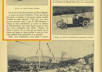 1927 25 07 GP Saint Sébastien 1er des 1100 Martin Amilcar MCO G.H. Record 1100 battu et à 4' de la 5ème Bugatti 2000cc (ab. Morel, roulement de roue et Leblanc en panne d'essence !). 3