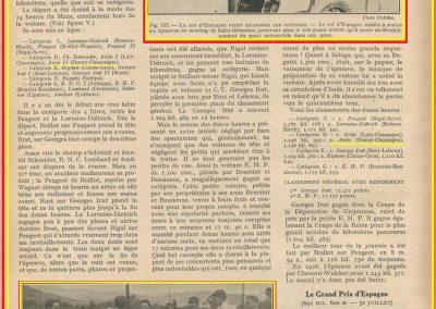 1927 25 07 GP Saint Sébastien 1er des 1100 Martin Amilcar MCO G.H. Record 1100 battu et à 4' de la 5ème Bugatti 2000cc (ab. Morel, roulement de roue et Leblanc en panne d'essence !). 7