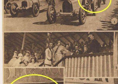 1927 25 07 GP Saint Sébastien 1er des 1100 Martin Amilcar MCO G.H. Record 1100 battu et à 4' de la 5ème Bugatti 2000cc (abs de Morel, roulement de roue et Leblanc tombe en panne d'essence). 4