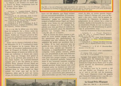 1927 25 07 GP Saint Sébastien 1er des 1100 Martin Amilcar MCO G.H. ab. de Morel. Au GP d'Espagne 1er des 1500 Benoist, Morel est en panne avec la 2ème et même Delage 1500. 1