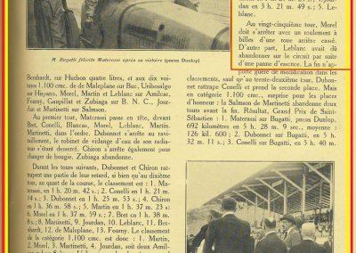 1927 25 07 GP Saint Sébastien, Martin 1er des 1100 sur l'Amilcar MCO G.H. ab. de Morel et Blanc. Au GP d'Espagne Benoist 1er, Morel est en panne avec la 2ème et même Delage 1500cc. 3