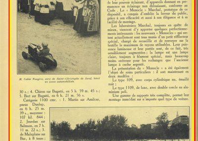 1927 25 07 GP Saint Sébastien, Martin 1er des 1100 sur l'Amilcar MCO G.H. ab. de Morel et Blanc. Au GP d'Espagne Benoist 1er, Morel est en panne avec la 2ème et même Delage 1500cc. 4