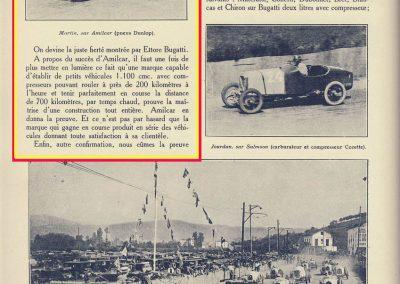 1927 25 07 GP Saint Sébastien, Martin Amilcar MCO G.H. 1er des 1100. ab. de Morel et Leblanc. Au GP d'Espagne 1er Benoist, Morel est en panne avec la 2ème et même Delage 1500 de Benoist !. 2