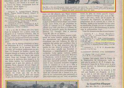 1927 25 07 GP Saint Sebastien. Martin 1er des 1100 sur le M.C.O. GH. Mr Sée montre S.M. le Roi d'Espagne, le moteur de la 1100 MCO. ab. Morel (ruture d'un roulement de roue). 7