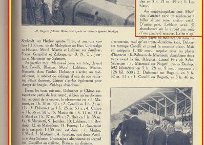 1927 25 07 GP Saint Sebastien. Martin 1er des 1100 sur le M.C.O. GH. Mr Sée montre S.M. le Roi d'Espagne, le moteur de la 1100 MCO. ab. Morel (ruture d'un roulement de roue). 8