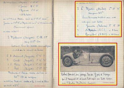 1927 25 07 GP Saint Sebastien. Martin 1er des 1100 sur le M.C.O. GH. Mr Sée montre au Roi d'Espagne, le moteur de la 1100 MCO. ab. Morel (ruture d'un roulement de roue). 6
