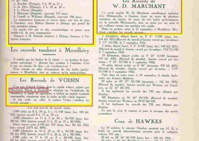 1927 26 09 Morel 7 Records (Voisin). GP Angleterre Brooklands 1er Benoist, 2ème Bourlier, 3ème Divo (Delage), Chiron (Bugatti). 10
