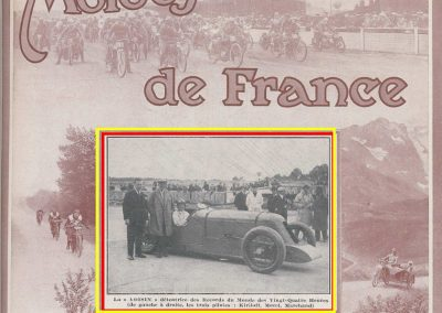 1927 26 09 VOISIN, 8 cyl., Records, 4383 km en 24 h. à 182 kmh de moy., Marchand, Morel et le Prince Kiriloff. 1
