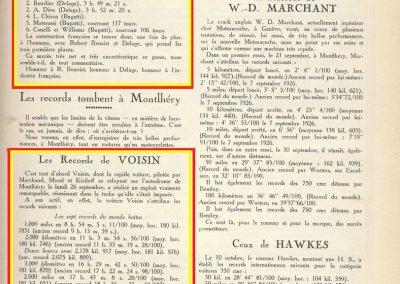 1927 26 09 VOISIN, 8 cyl., Records, 4383 km en 24 h. à 182 kmh de moy., Marchand, Morel et le Prince Kiriloff. 4