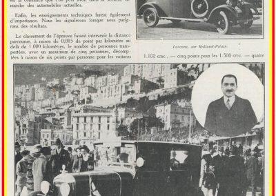 1927 30 01 Rallye de Monte-Carlo (Monaco) 1er au général, Amilcar, 7ch, à soupapes latérales, Compresseur Cozette, 5 personnes à bord, départ de Koenigsberg. 2