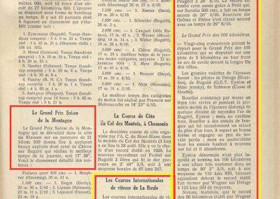 1927 30 08 Côte du Klausen Suisse Chiron, Benoist le KM Lancé à la Baule 1