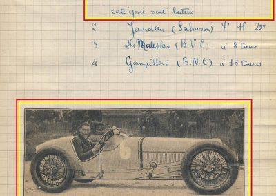 1927 31 07 GP Espagne Benoist 3ème Bourlier St Sébastien Martin