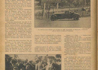 1927 9-10 07 les 24 heures de Spa-Francorchamp. Arthur Duray sur Ariès, 1er de Cat. et 11ème au général, 1609 km. 1er Alfa Roméo Cat. 1500 Ivanowski-Marinoni. 1