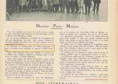 1927 Moscou Paris Moscou. Moriceau Brillant Pilote Talbot. 1