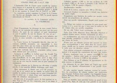 1928 01 01 la Coupe de la Commission Sportive, remplacera le GP de l'ACF. Amilcar augmentera la cylindrée à 1270cc !. 1