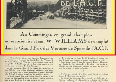 1928 01 07 GP ACF des voitures de Sport à Handicaps à St Gaudens au Comminges. 1er Williams-Bugatti 35C, 2ème Rousseau-Salmson, ab Duray-Ariès. 1