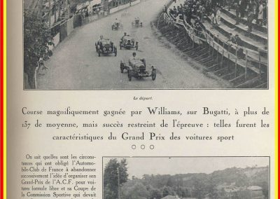 1928 01 07 GP ACF des voitures de Sport à Handicaps à St Gaudens au Comminges. 1er Williams-Bugatti 35C, 2ème Rousseau-Salmson, ab Duray-Ariès. 2