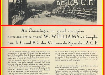 1928 01 07 GP de l'ACF des Voitures de Sport au Comminges-St Gaudens. 1er Williams.1