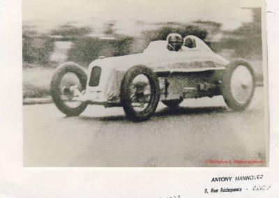 1928 02 09 1 Arpajon Records du Monde Morel Amilcar le km lancé 1100cc à 206,895 km-h 17'40-100 + le Mile. Avec la 1500cc 1 Record du Monde à 210,770 km-h 17'18-100, 3