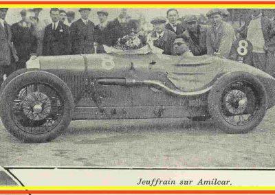 1928 07 10 GP de France MCF, 1er Jeuffrain déclaré ''Champion 1928 et 1927'' par le MCF. sur Amilcar C.6. ab Morel-(pneus) et Martin (accident léger). 1