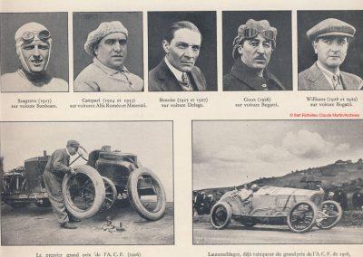 1928 07 10 les vainqueurs du GP de France Benoist en 19 Williams en 1929. 1