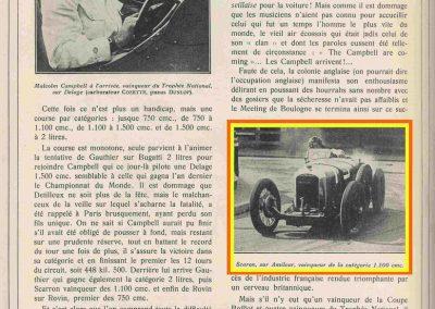 1928 08 25 5ème GP de la Baule Meeting. Amilcar C6-Scaron. 11