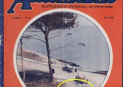 1928 09 04 Antibes, Circuit International, ''la Guaroupe''. Amilcar MCO Géo Ham, Moriceau 1er des 1100 et 4ème derrière 3 Bugatti 1500 et 2000cc ! 1