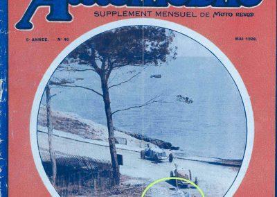 1928 09 04 Circuit International du Cap d'Antibes ''la Guaroupe'' Amilcar M.C.O. G.H, Moriceau 1er des 1100, derrière Chiron, Williams et Dreyfus, Bugatti 2000 et 1500. 1