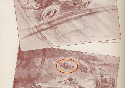 1928 09 04 GP Antibes 'la Guaroupe'. Amilcar MCO Moriceau 1er des 1100 et 4ème derrière 3 Bugatti 1500 et 2000cc ! 3