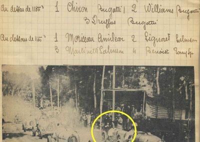 1928 09 04 GP Antibes 'la Guaroupe'. Amilcar Moriceau 1er des 1100 et 4ème derrière 3 Bugatti 1500 et 2000cc ! 5