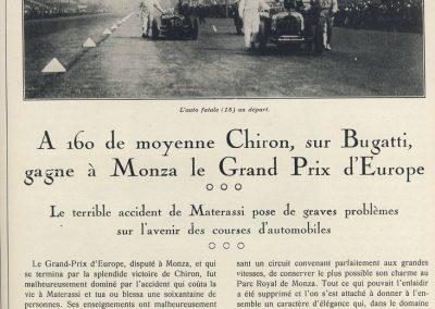 1928 09 09 GP d'Italie à Monza et 3ème d'Europe Chiron, DC de Materassi 1