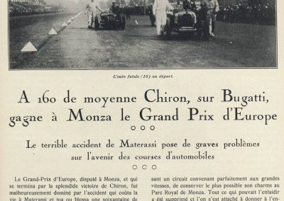 1928 09 09 GP d'Italie et d'Europe. 1er Chiron-Bugatti, ab. Williams (trop rapide). 1