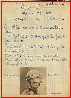 1928 10 06 GP Royal de Rome Morel Amilcar MCO 1er des 1100cc (Zampiéri Amilcar 2ème). Chiron Bugatti 2000cc 1er au général. 5