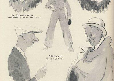 1928 15 07 GP d'Allemagne. Nurburgring, 508 km, Dans les 5 premiers 4 Mercedes, Caracciola..., 4ème Brilli-Péri Bugatti, puis 5 Bugatti ! 3 Amilcar C.6. 1