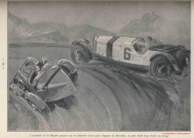 1928 15 07 GP d'Allemagne. Nurburgring, 508 km, Dans les 5 premiers 4 Mercedes, Caracciola..., 4ème Brilli-Péri Bugatti, puis 5 Bugatti ! 3 Amilcar C.6. 2