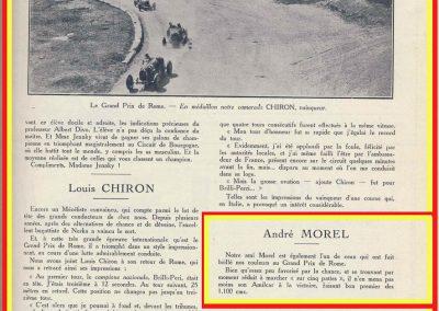 1928 17 06 GP Royal de Rome Italie, 396 km, Morel 1er Amilcar MCO 1100, 3h 46''. Chiron 1er Bugatti 2000cc 3h 05'.2