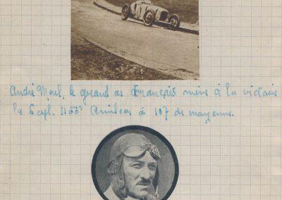 1928 17 06 GP Royal de Rome Italie, 396 km, Morel 1er Amilcar MCO 1100, 3h 46''. Chiron 1er Bugatti 2000cc 3h 05'.3