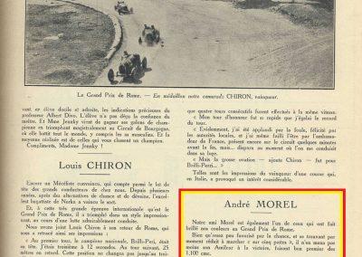 1928 17 06 GP Royal de Rome Morel Amilcar MCO 1er des 1100cc (Zampiéri Amilcar 2ème). Chiron Bugatti 2000cc 1er au général. 3