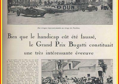 1928 19 06 GP Bugatti au Mans-Sarthe. 1er Williams Bugatti 1500 sans compressur avec ex- aequo Dubonnet-P. de Rothschild. 1