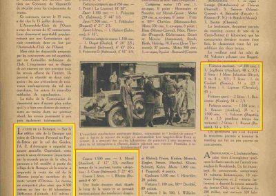 1928 22 07 Côte la Baraque à Clermont Ferrand Amilcar Morel, montée de 9% sur 6,5 km en 4'12''2-5, MTJ TC à 85 km-h de moy. Trouville Côte de la Croix Sonnet 1er Scaron et Jeuffrain sur C.6. 3