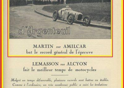 1928 25 03 Argenteuil Amilcar 1500cc Martin 1'15''4-5 à 85,488 kmh RTCB et en 1100cc 1'22''à 79,024, 2_