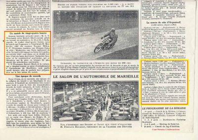 1928 25 03 Argenteuil Martin 1100 MCO 1'22 et 1500cc 1'15'' R.B.J.R.G.B. Le 22 03 Coupe de Monte Carlo Morel 1er des 3 disciplines 4
