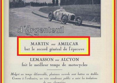 1928 25 03 Côte d'Argenteuil, 1er Martin Amilcar 1100 MCO GH 1'22 et 1'15'' 4-5, en 1500cc R.B.T.C. 2