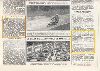 1928 25 03 d'Argenteuil Martin 1100 MCO 1'22 et 1500cc 1'15'' R.B.J.R.G.B. Le 22 03 Coupe de Monte Carlo Morel 1er des 3 disciplines. 6