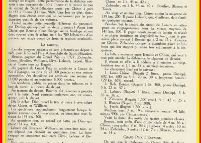 1928 25 07 GP de Saint-Sébastien, 1er Chiron-Bugatti, ab Williams-Bugatti. 2