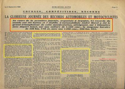 1928 25 08 Arpajon 210,770 kmh et 206 kmh avec la 1100cc 1_